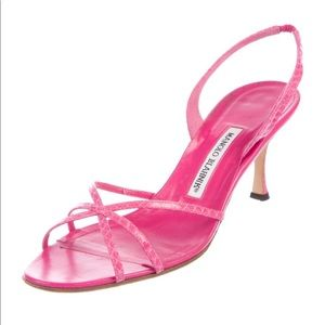 Manolo Blahnik Pink Slingback Pumps